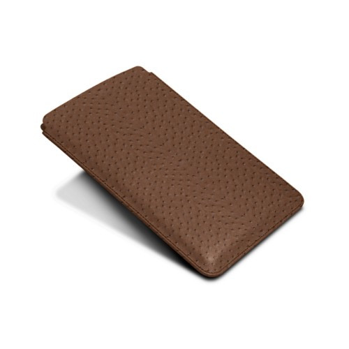 Protective Case for iPad Mini 4 - Tobacco - Real Ostrich Leather