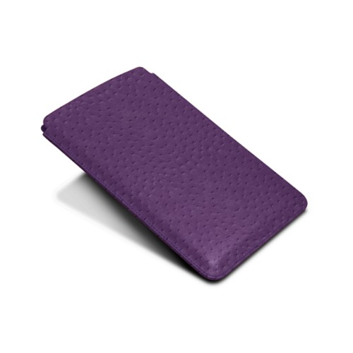 Protective Case for iPad Mini 4 - Purple - Real Ostrich Leather