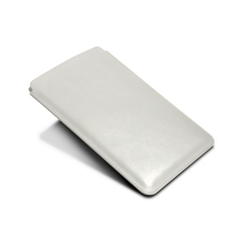 Protective Case for iPad Mini 4 - White - Goat Leather
