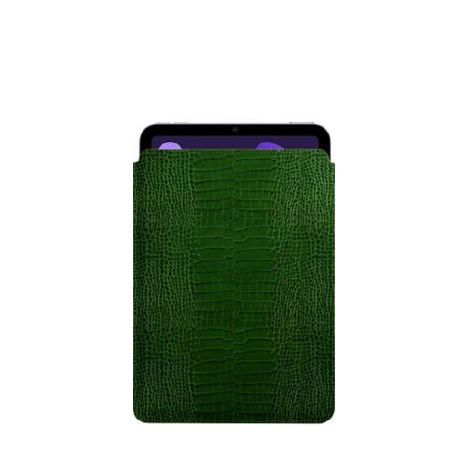 Protective Case for iPad Mini 4 - Light Green - Crocodile style calfskin