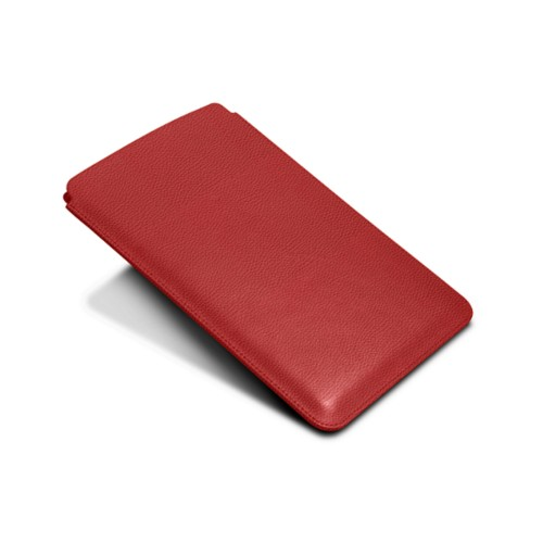 Protective Case for iPad Mini 4 - Red - Granulated Leather