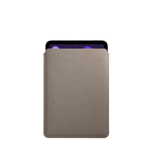 Protective Case for iPad Mini 4 - Light Taupe - Granulated Leather