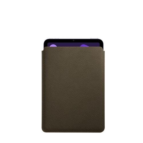 Protective Case for iPad Mini 4 - Dark Taupe - Granulated Leather