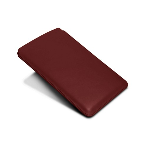 Protective Case for iPad Mini 4 - Burgundy - Smooth Leather