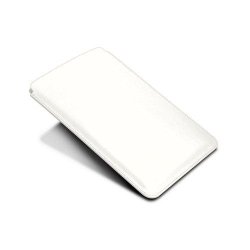 Protective Case for iPad Mini 4 - White - Smooth Leather