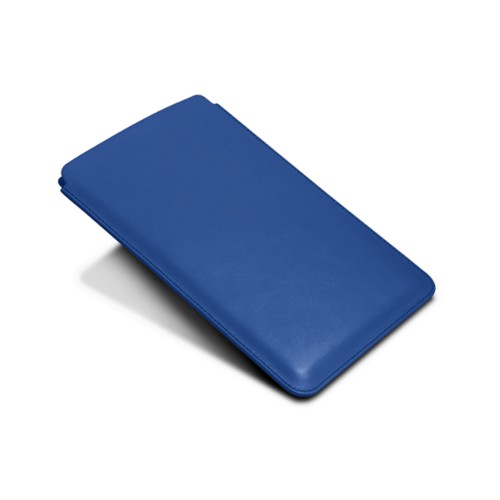Protective Case for iPad Mini 4 - Royal Blue - Smooth Leather