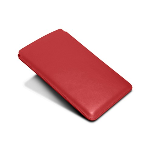 Protective Case for iPad Mini 4 - Red - Smooth Leather