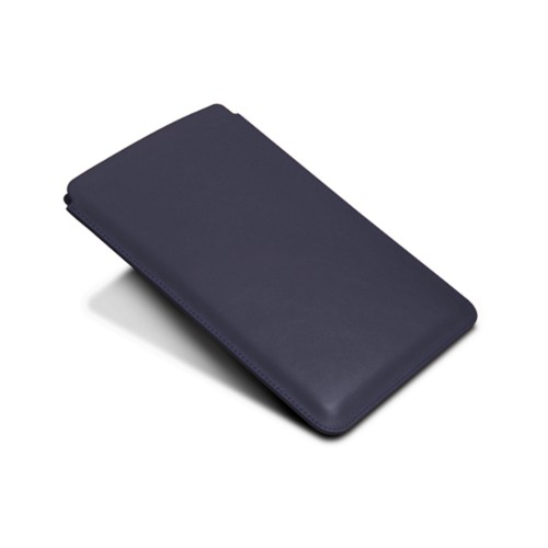 Protective Case for iPad Mini 4 - Purple - Smooth Leather