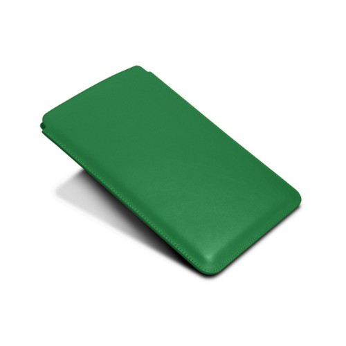 Protective Case for iPad Mini 4 - Light Green - Smooth Leather
