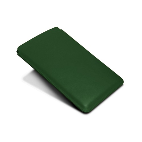 Protective Case for iPad Mini 4 - Dark Green - Smooth Leather