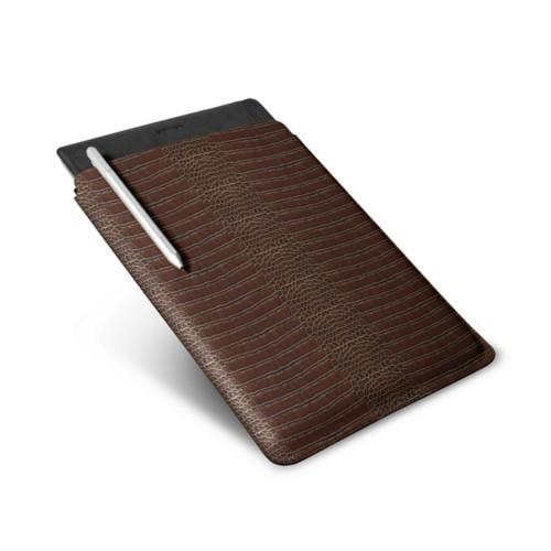 Microsoft Surface Pro 4 Case - Brown - Crocodile style calfskin