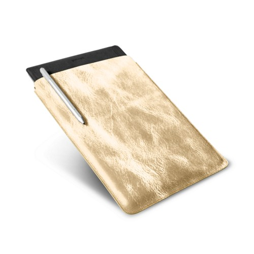 Microsoft Surface Pro 4 Case - Golden - Metallic Leather