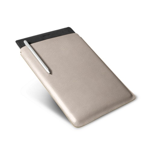 Microsoft Surface Pro 4 Case - Light Taupe - Granulated Leather