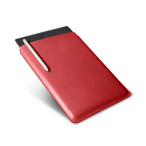 Microsoft Surface Pro 4 Case - Red - Smooth Leather