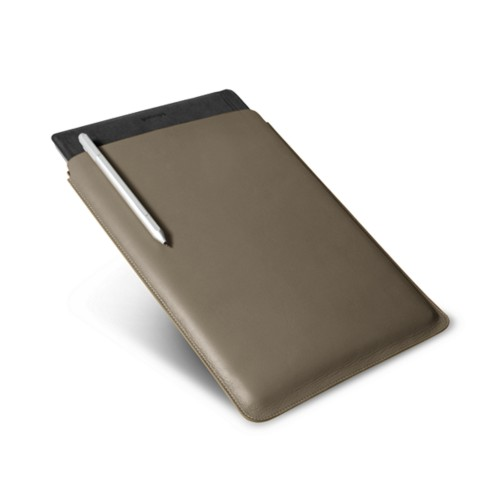 Microsoft Surface Pro 4 Case - Dark Taupe - Smooth Leather
