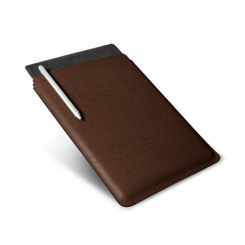 Microsoft Surface Pro 4 case - Dark Brown - Granulated Leather