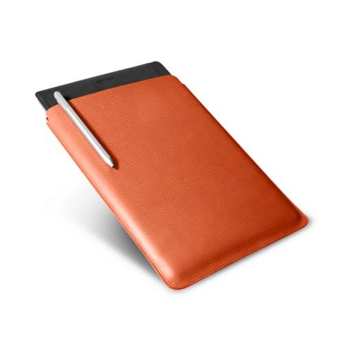 Microsoft Surface Pro 4 case - Orange - Granulated Leather