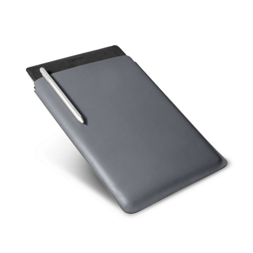 Microsoft Surface Pro 4 case - Mouse-Grey - Smooth Leather