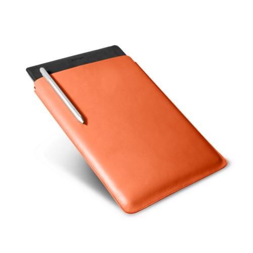 Microsoft Surface Pro 4 case - Orange - Smooth Leather