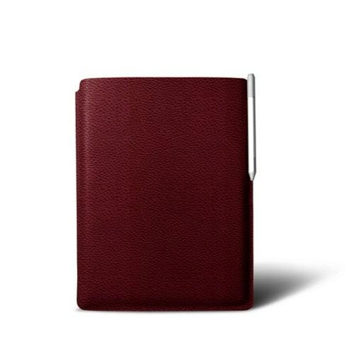 Microsoft Surface Pro case (2017) with keyboard - Burgundy - Granulated Leather