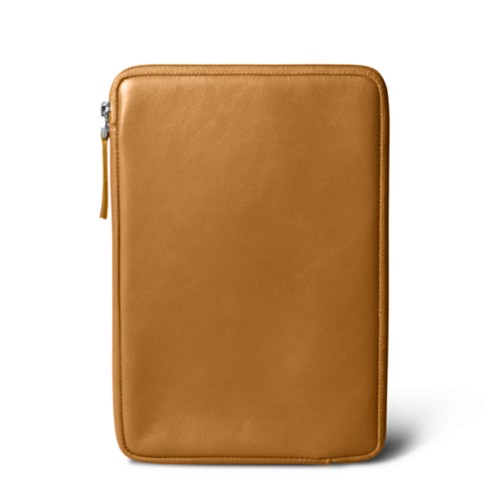 Zipped pouch for iPad Mini 4 - Natural - Smooth Leather