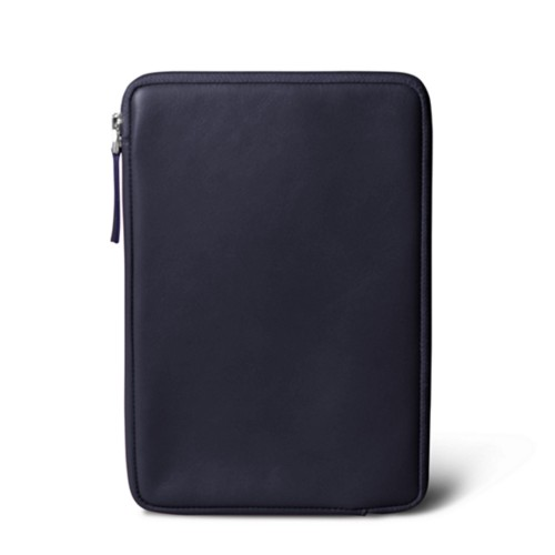Zipped pouch for iPad Mini 4 - Purple - Smooth Leather