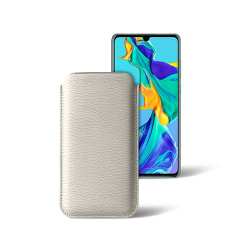 Classic sleeve for Samsung Galaxy S7 Edge - Off-White - Granulated Leather