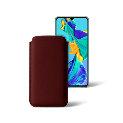 Classic sleeve for Samsung Galaxy S7 Edge - Burgundy - Smooth Leather