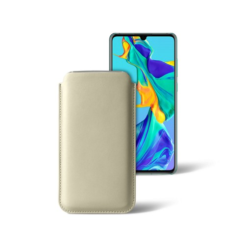 Classic sleeve for Samsung Galaxy S7 Edge - Off-White - Smooth Leather