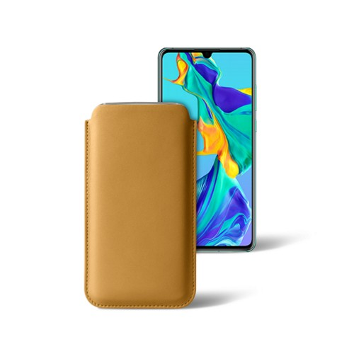 Classic sleeve for Samsung Galaxy S7 edge - Mustard Yellow - Smooth Leather