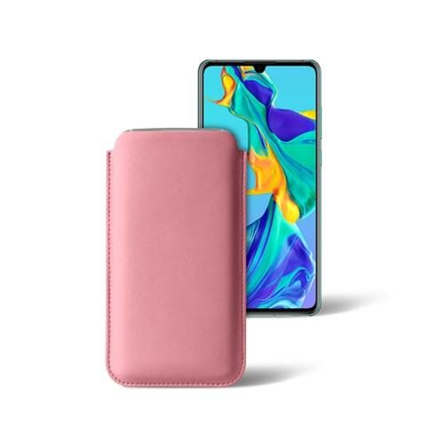 Classic sleeve for Samsung Galaxy S7 edge - Pink - Smooth Leather