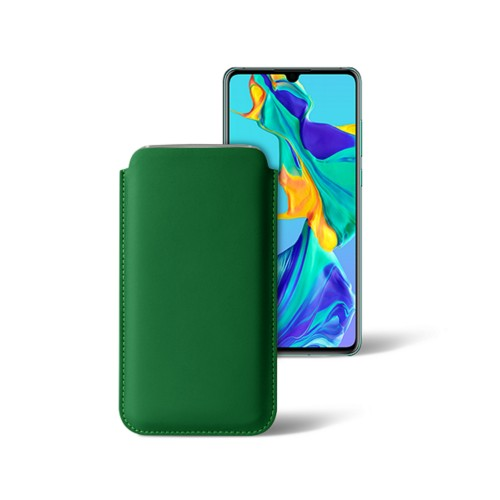 Classic sleeve for Samsung Galaxy S7 Edge - Light Green - Smooth Leather
