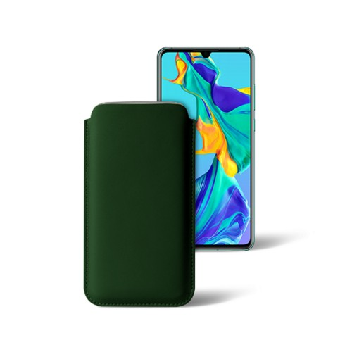 Classic sleeve for Samsung Galaxy S7 Edge - Dark Green - Smooth Leather