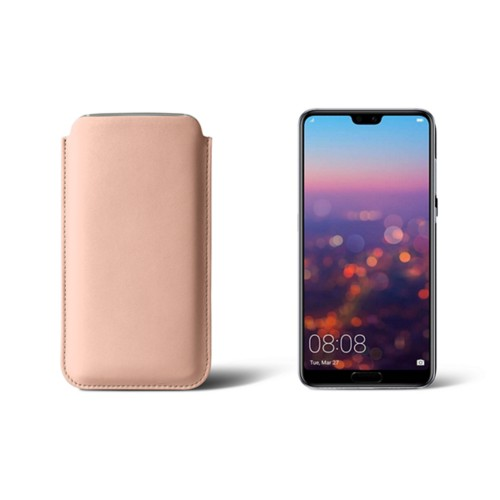 Huawei P20 Sleeve - Nude - Smooth Leather