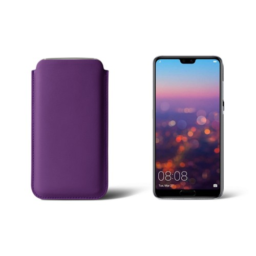 Huawei P20 Sleeve - Lavender - Smooth Leather