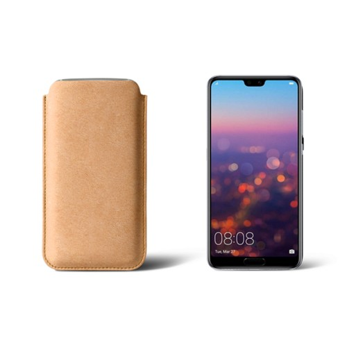 Huawei P20 Sleeve - Natural - Vegetable Tanned Leather