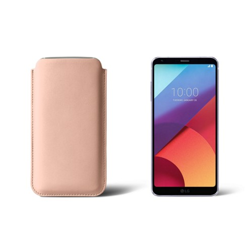 Slim sleeve for LG G6 - Nude - Smooth Leather