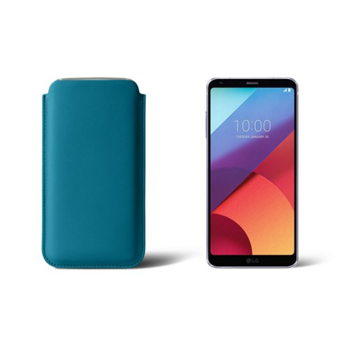 Slim sleeve for LG G6 - Turquoise - Smooth Leather