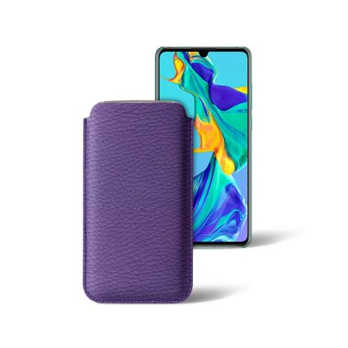 Klassiek hoesje voor Huawei P30 - Lavendel - Korrelig Leer
