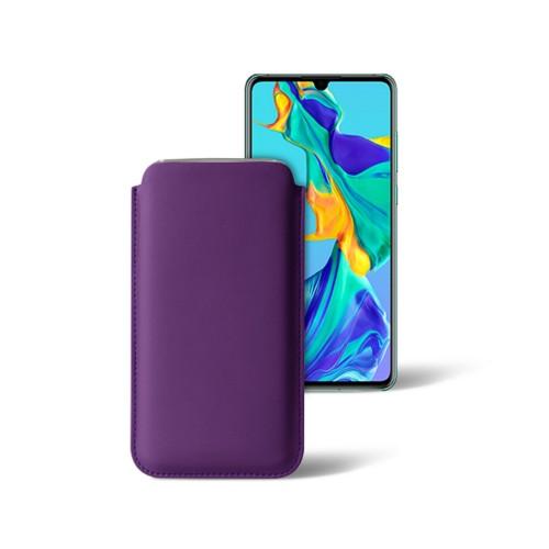 Klassiek hoesje voor Huawei P30 - Lavendel - Soepel Leer