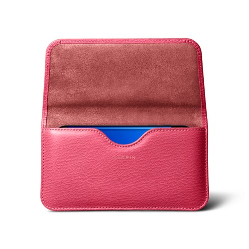 Belt case for Samsung Galaxy S7 Edge - Pink - Goat Leather