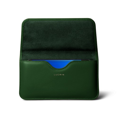 Belt case for Samsung Galaxy S7 Edge - Dark Green - Smooth Leather