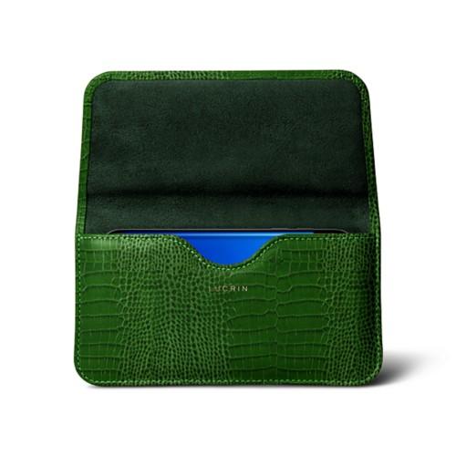 Belt Case for Samsung Galaxy S8 - Light Green - Crocodile style calfskin