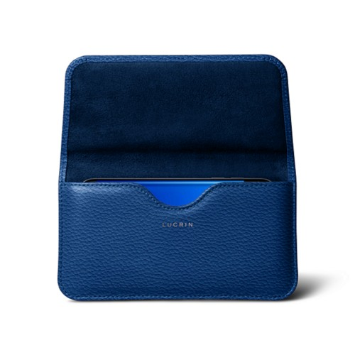 Belt Case for Samsung Galaxy S8 - Royal Blue - Granulated Leather