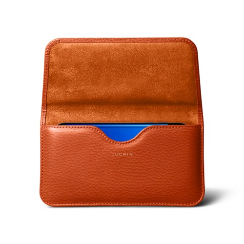 Belt Case for Samsung Galaxy S8 - Orange - Granulated Leather