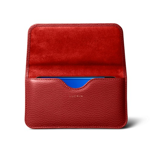 Belt Case for Samsung Galaxy S8 - Red - Granulated Leather
