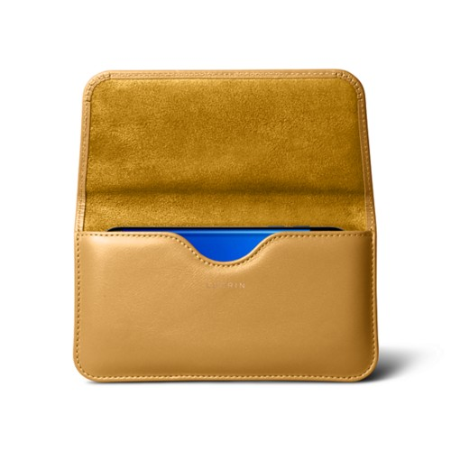 Belt Case for Samsung Galaxy S8 - Mustard Yellow - Smooth Leather