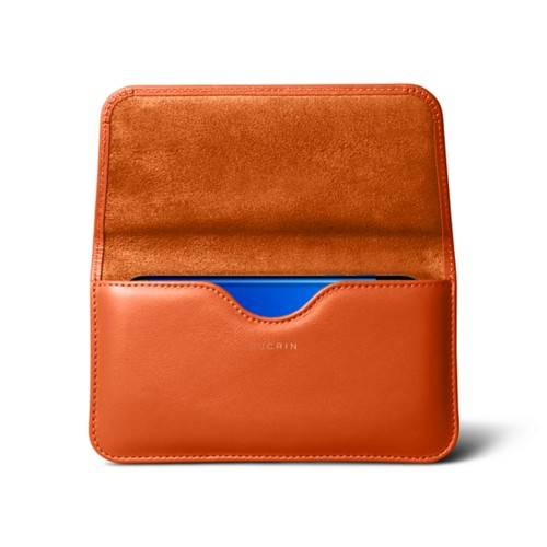 Belt Case for Samsung Galaxy S8 - Orange - Smooth Leather