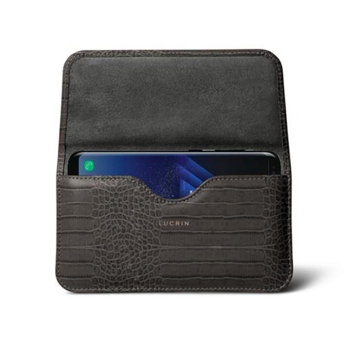 Belt Case for Samsung Galaxy S8+ - Mouse-Grey - Crocodile style calfskin