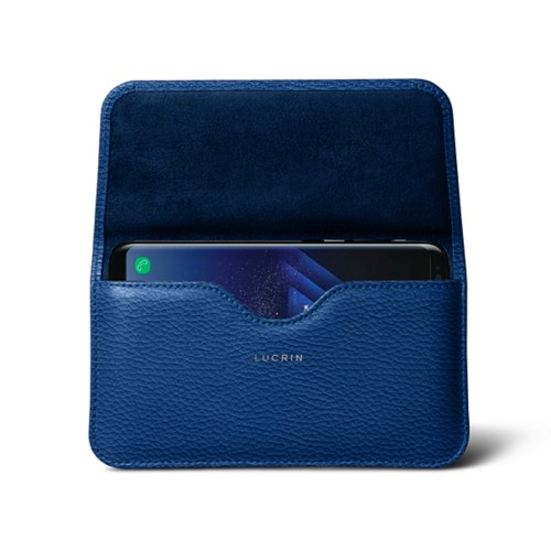 Belt Case for Samsung Galaxy S8+ - Royal Blue - Granulated Leather